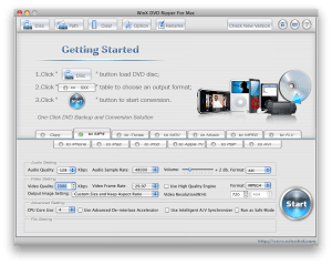 WinX DVD Ripper for Mac Interface