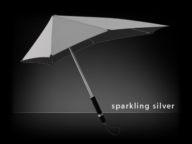 original sparkling silver Windproof Umbrella   Senz Original