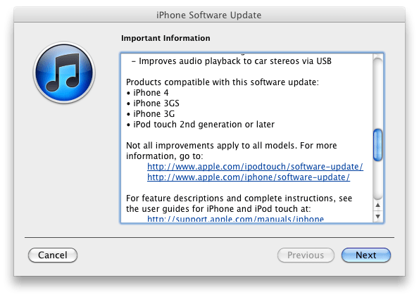 iOS 4.2 changelog 3 iOS 4.2.1 released tod