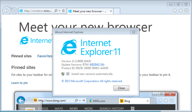 internet explorer 11 Missing Text in Sent Items Outlook 2003